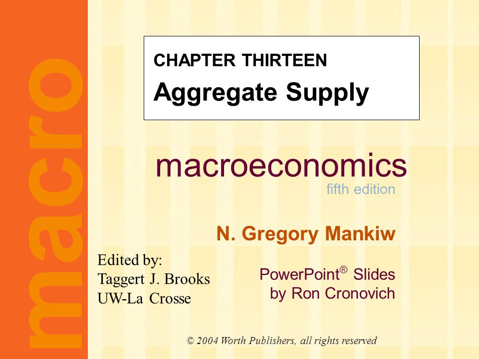 Learning objectives three models of aggregate supply in which output depends positively on the price level in the short run.