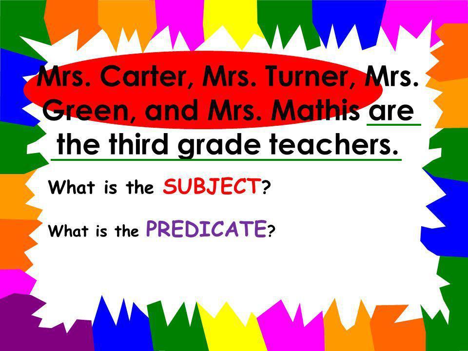 Mrs. Carter, Mrs. Turner, Mrs. Green, and Mrs
