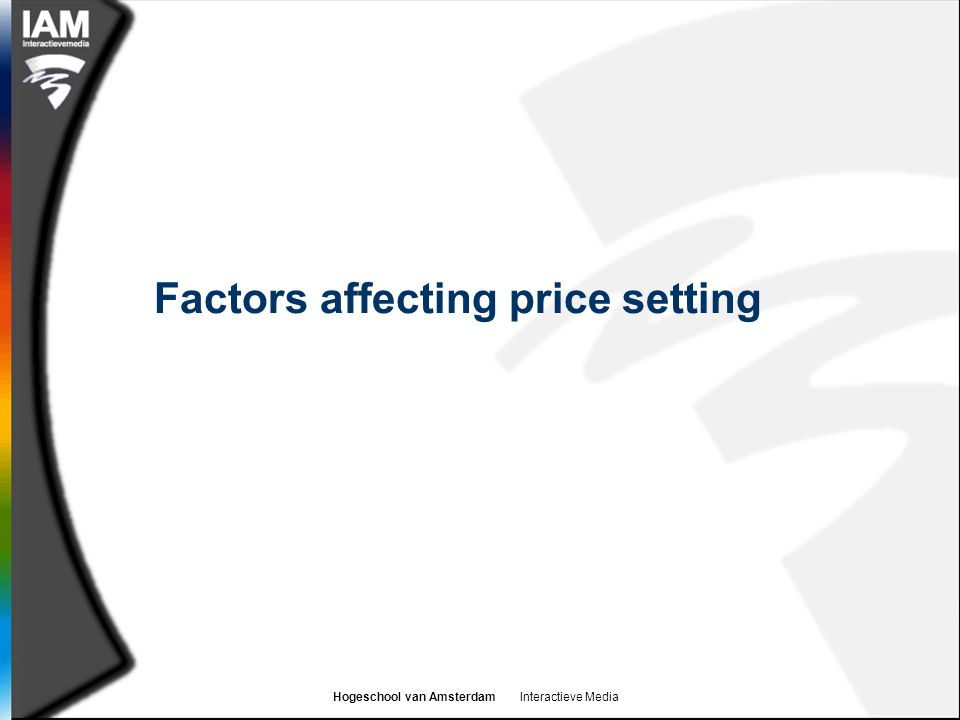 Factors affecting price setting