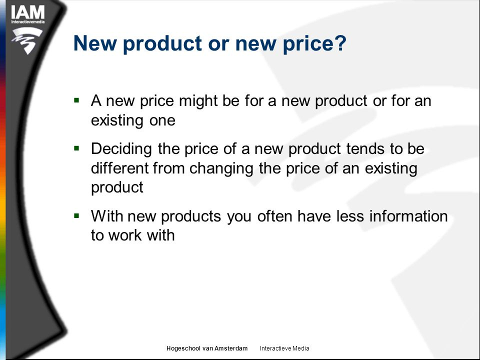 New product or new price