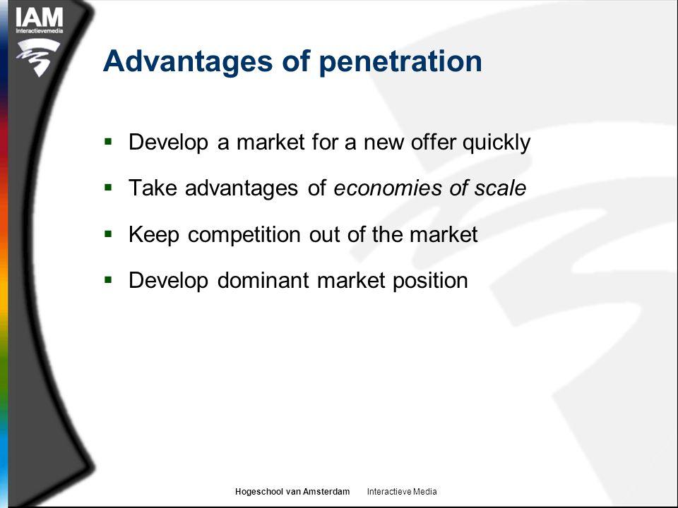 Advantages of penetration