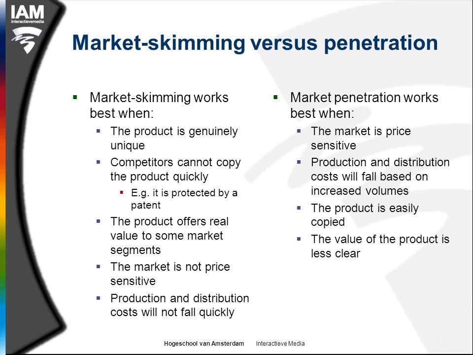 Market-skimming versus penetration