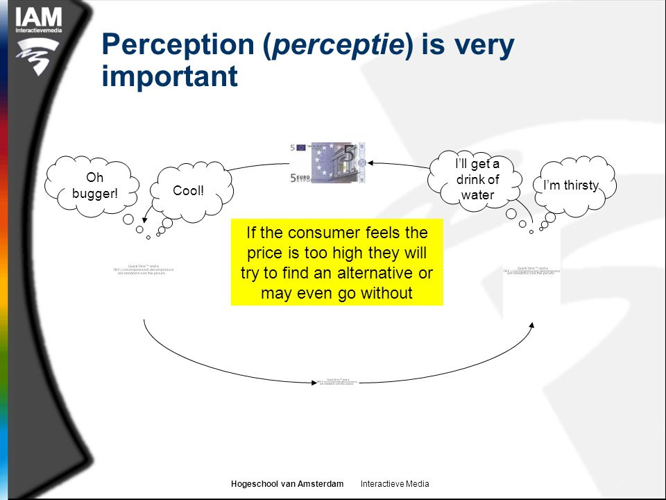 Perception (perceptie) is very important