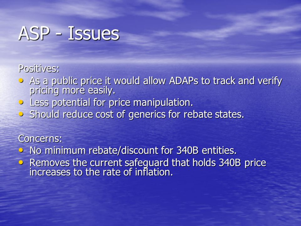 ASP - Issues Positives:
