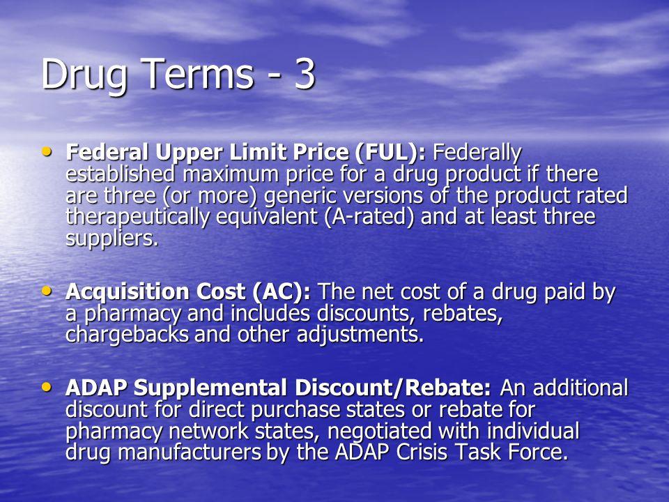 Drug Terms - 3