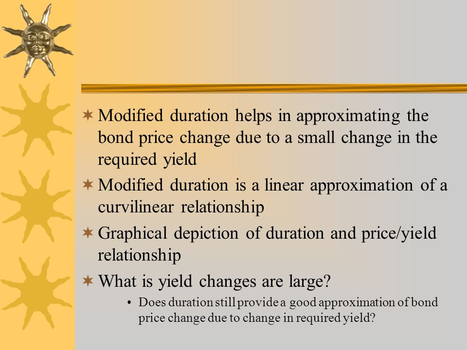 Graphical depiction of duration and price/yield relationship