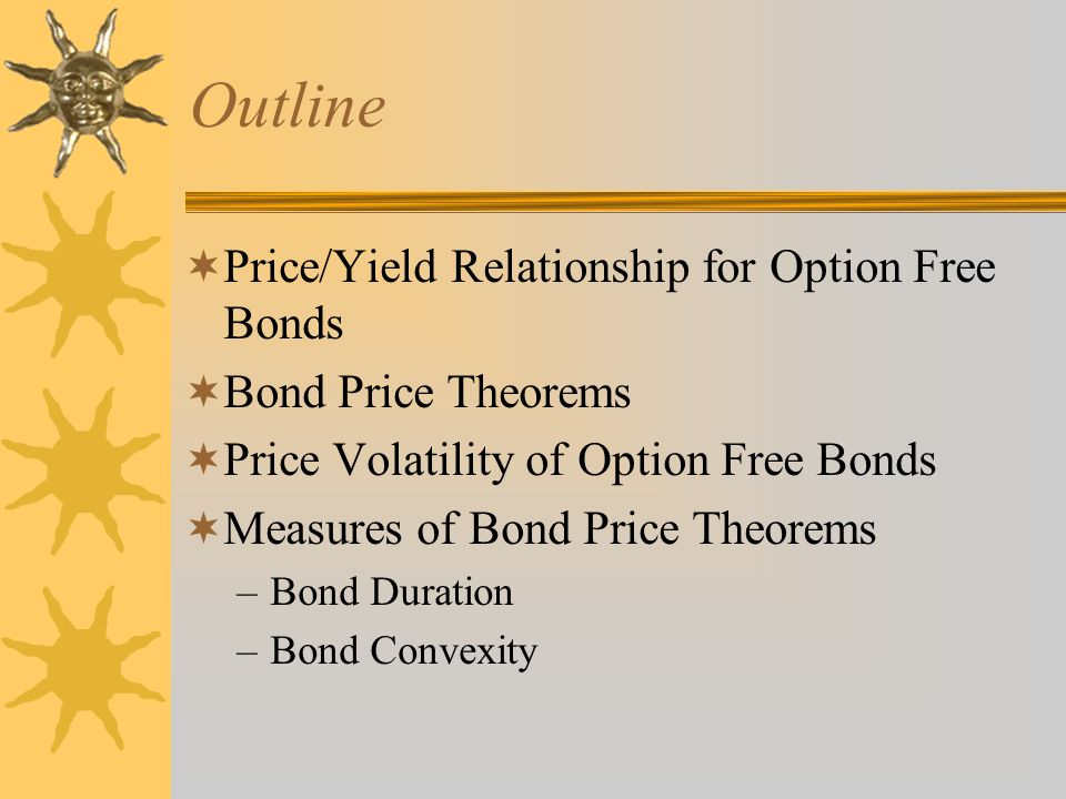 Outline Price/Yield Relationship for Option Free Bonds