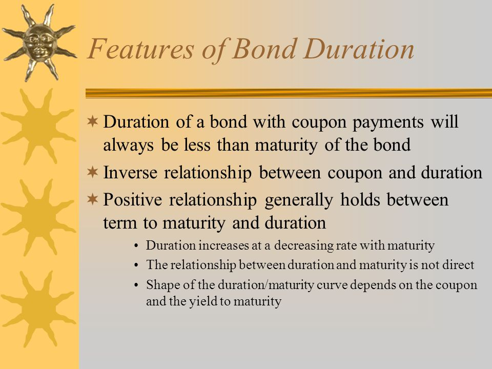 Features of Bond Duration
