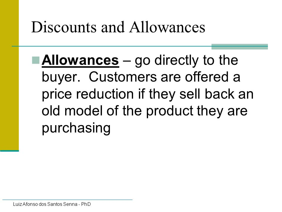 Discounts and Allowances