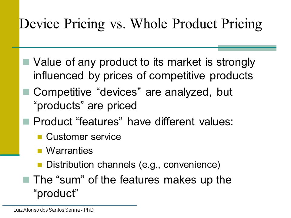 Device Pricing vs. Whole Product Pricing