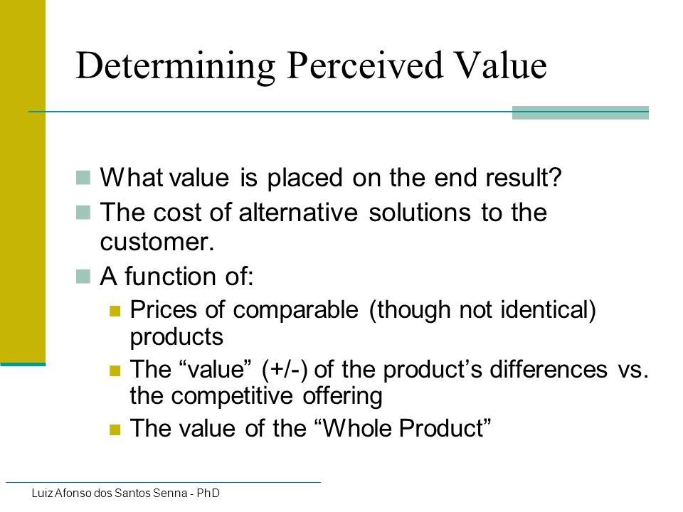 Determining Perceived Value