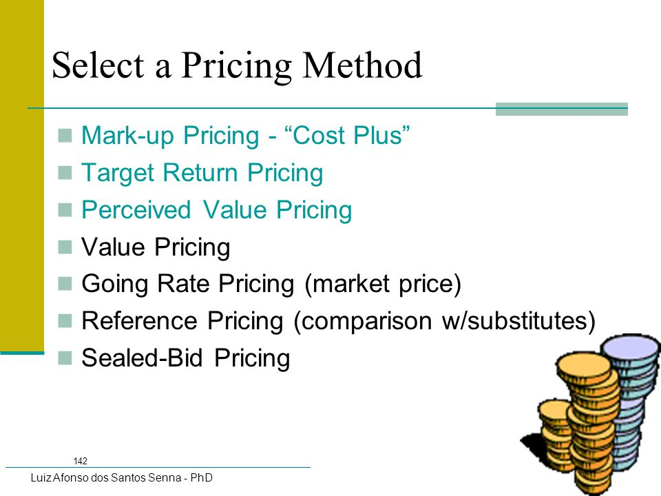 Select a Pricing Method