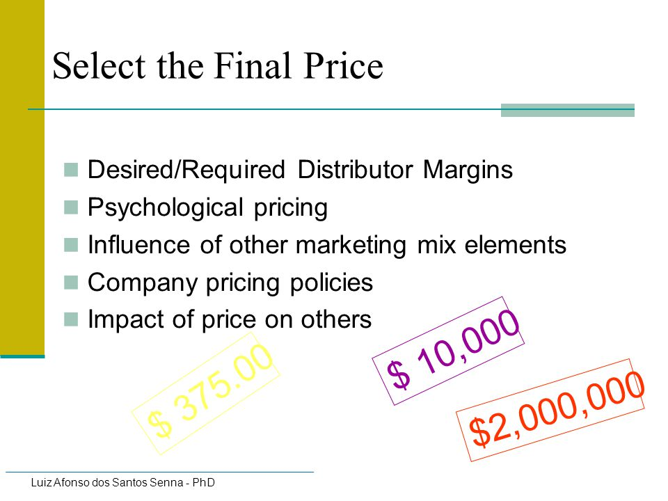 Select the Final Price $ 10,000 $ $2,000,000