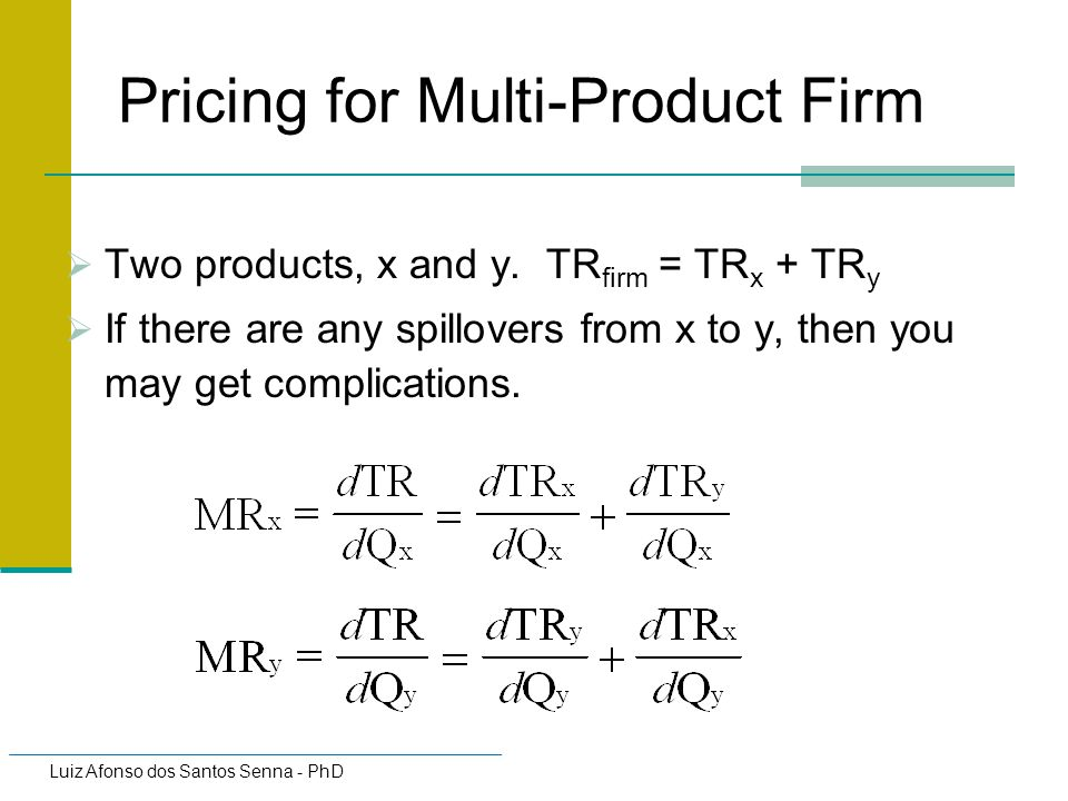 Pricing for Multi-Product Firm