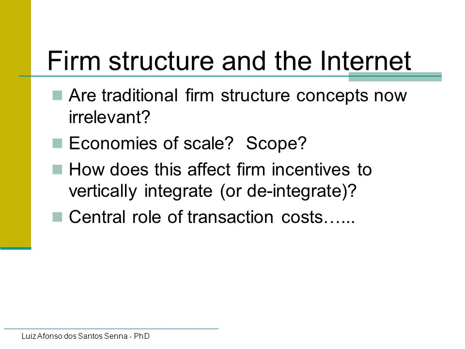 Firm structure and the Internet