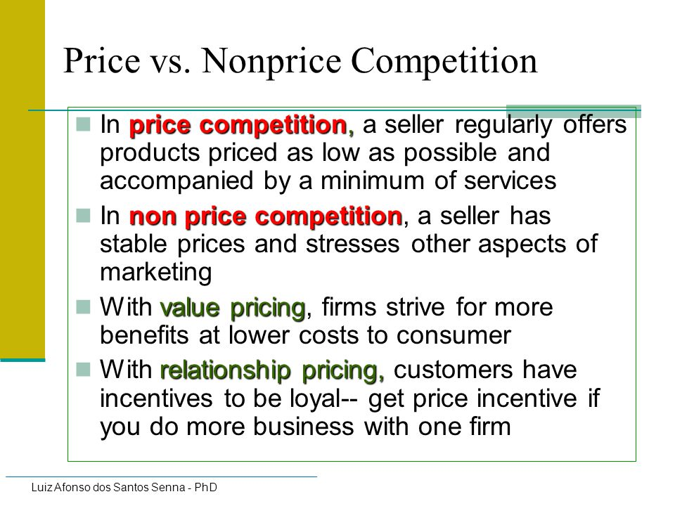 Price vs. Nonprice Competition