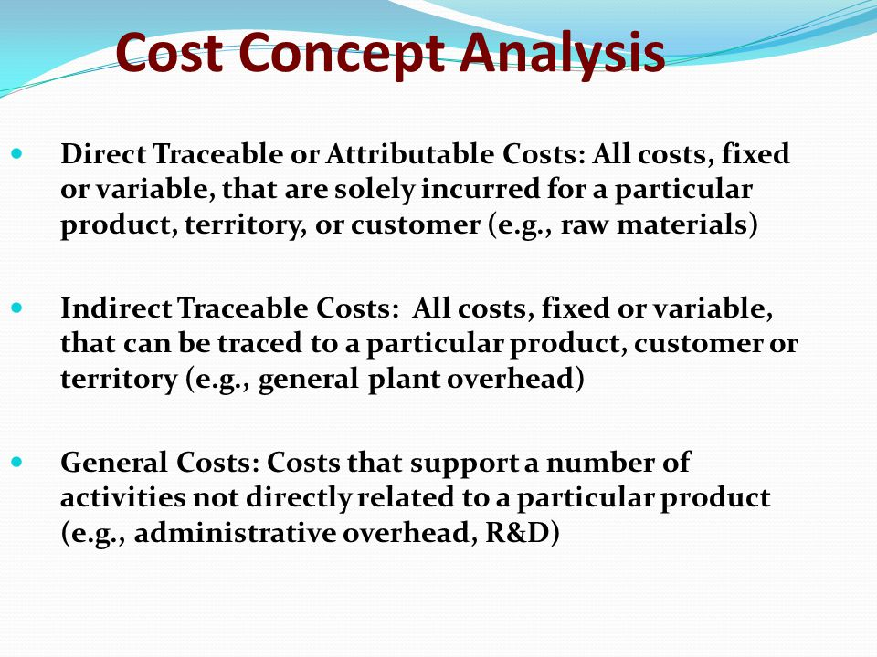 Cost Concept Analysis