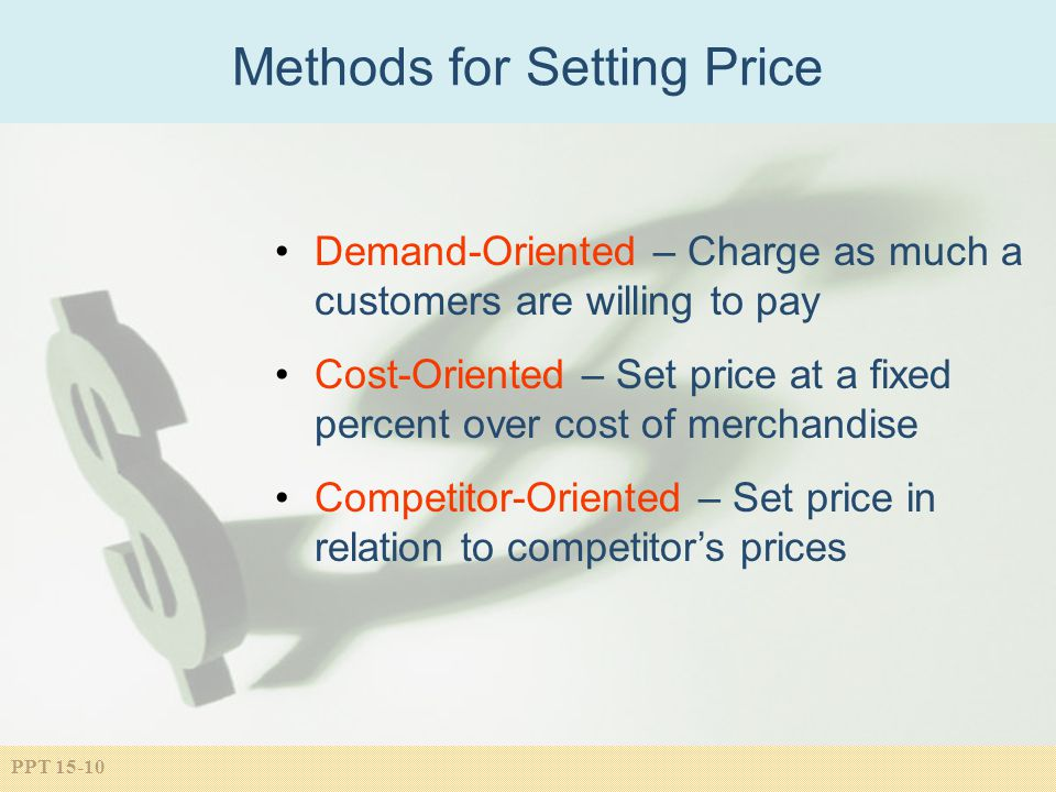 Methods for Setting Price