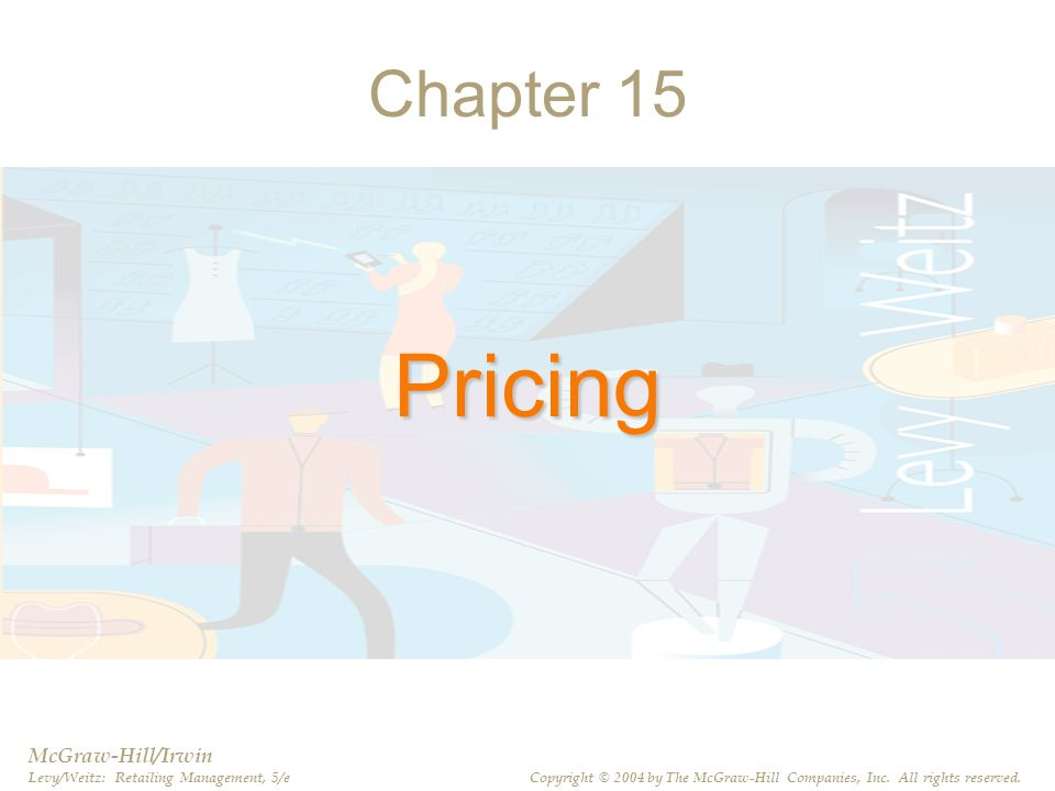 Pricing Chapter 15 McGraw-Hill/Irwin