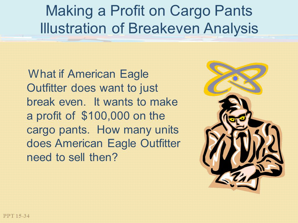 Making a Profit on Cargo Pants Illustration of Breakeven Analysis