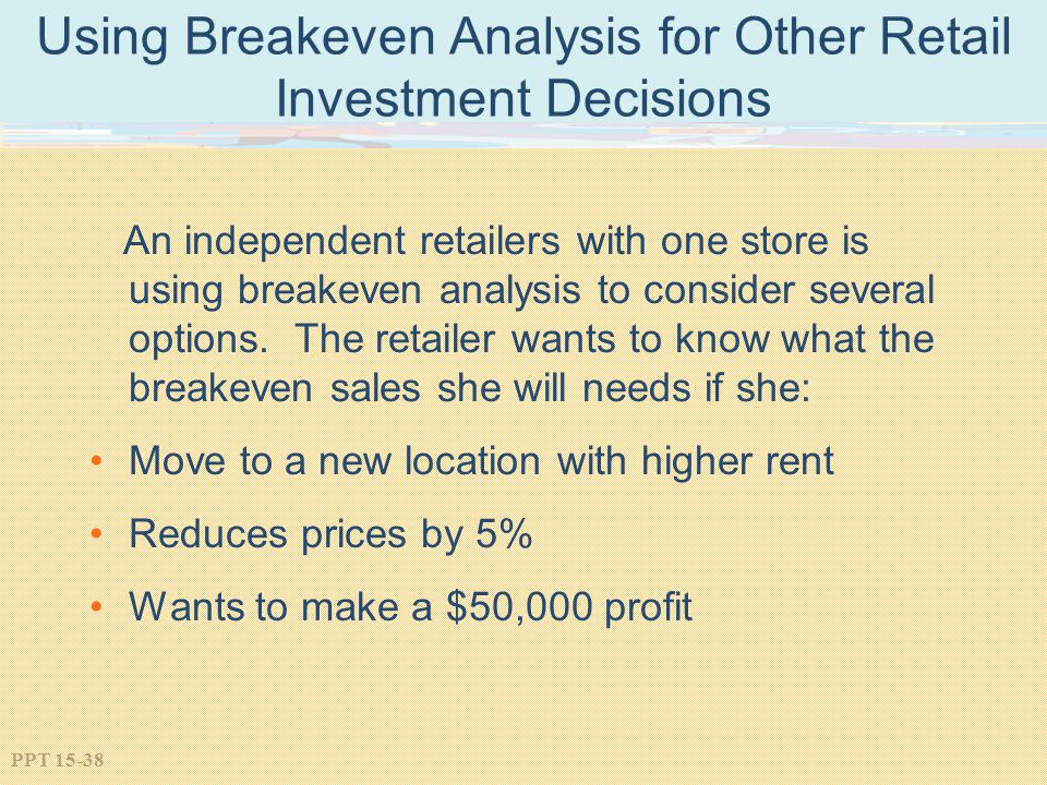 Using Breakeven Analysis for Other Retail Investment Decisions