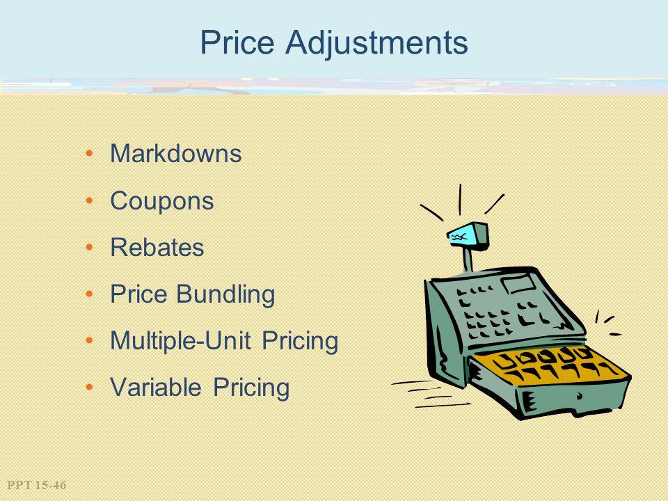 Price Adjustments Markdowns Coupons Rebates Price Bundling