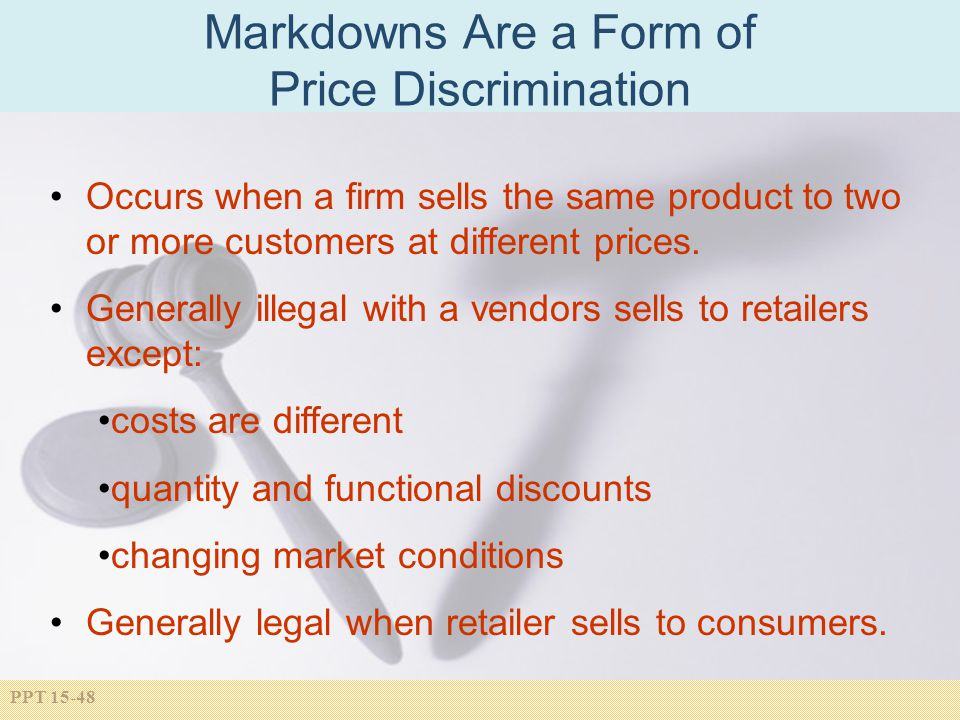 Markdowns Are a Form of Price Discrimination