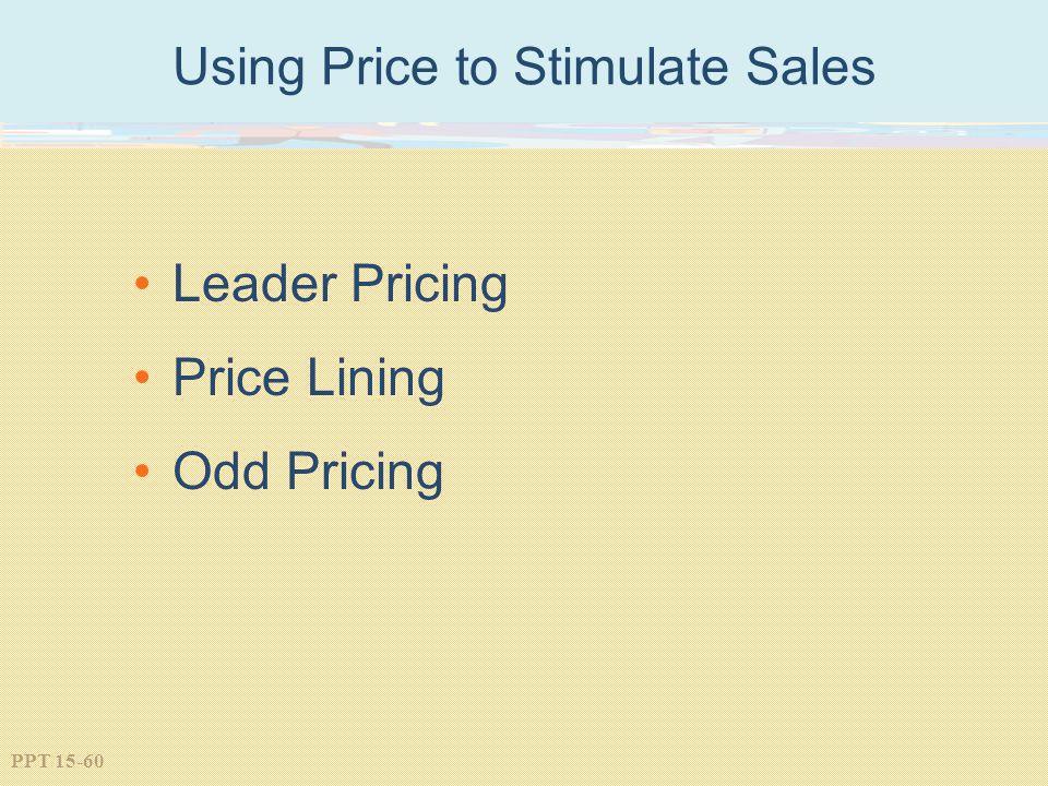 Using Price to Stimulate Sales