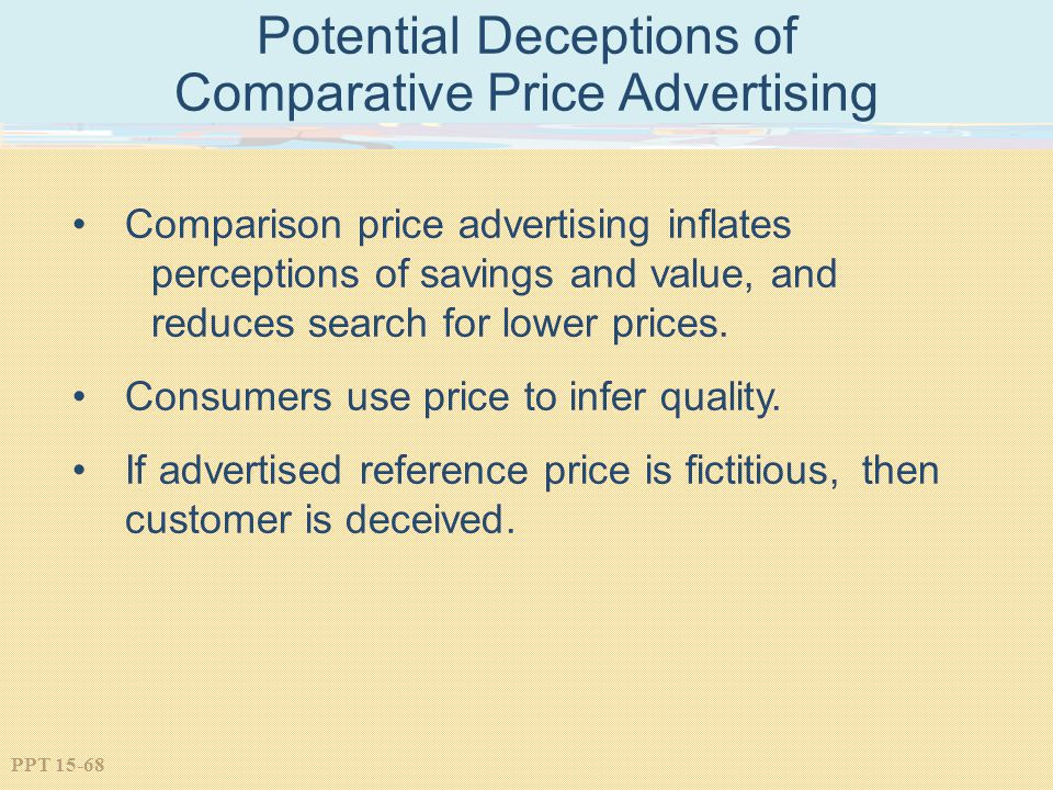Potential Deceptions of Comparative Price Advertising