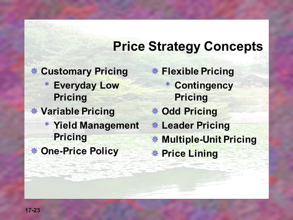 Price Strategy Concepts