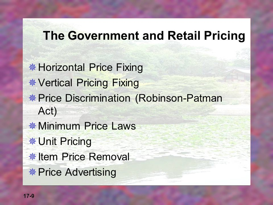 The Government and Retail Pricing