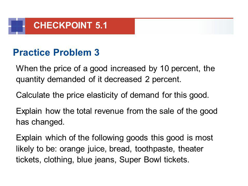 Practice Problem 3 CHECKPOINT 5.1