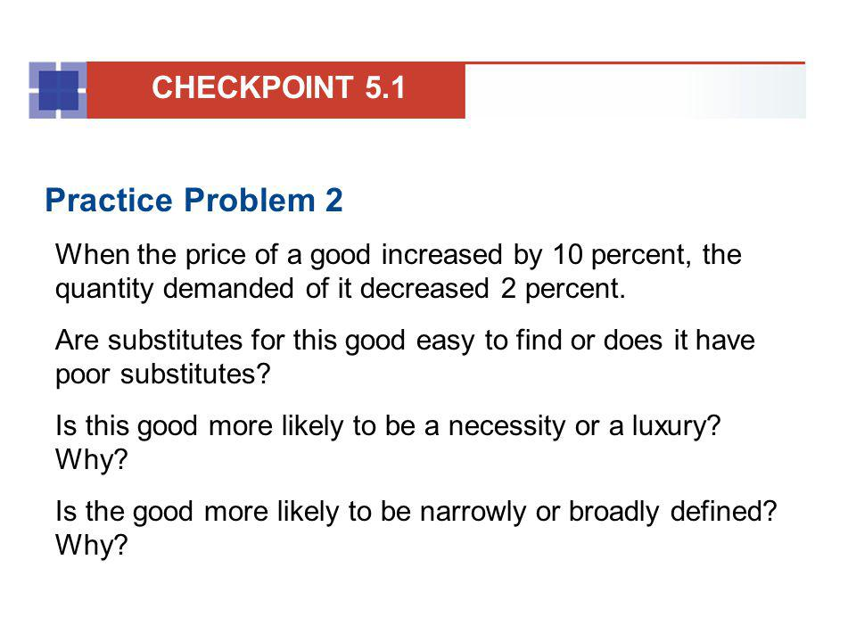 Practice Problem 2 CHECKPOINT 5.1