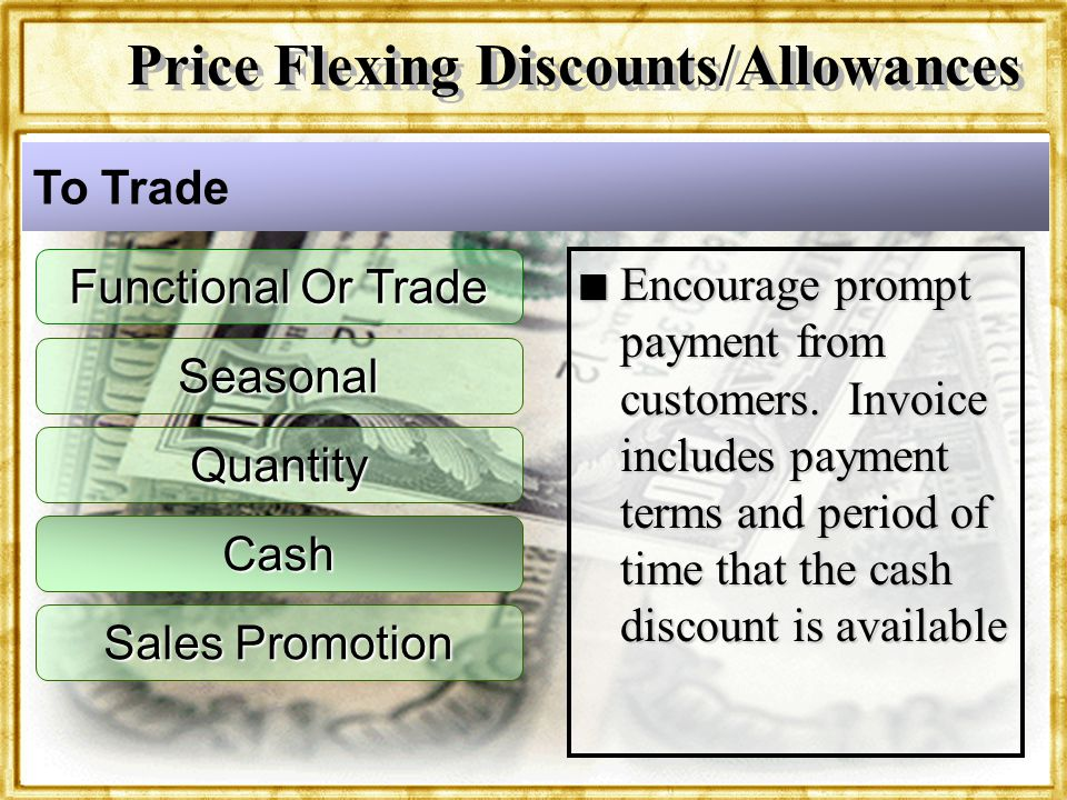 Price Flexing Discounts/Allowances