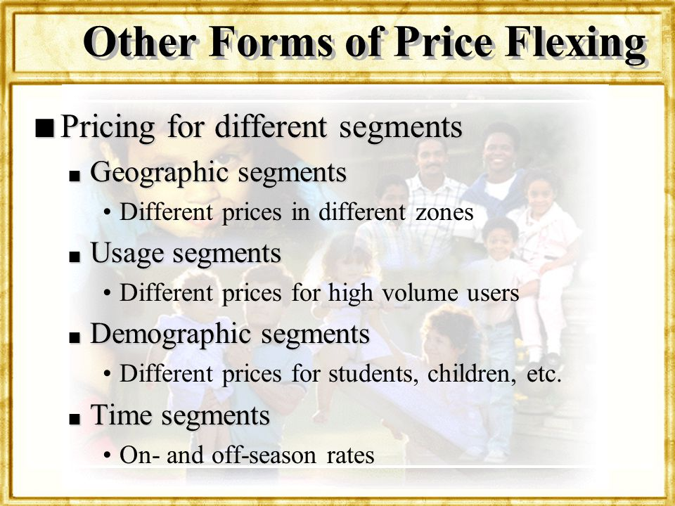 Other Forms of Price Flexing