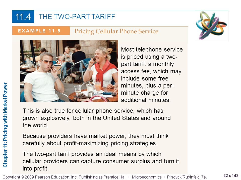 11.4 THE TWO-PART TARIFF.