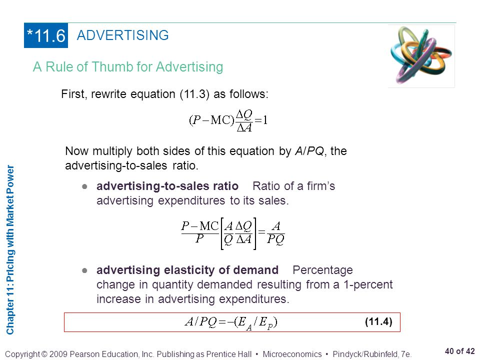 *11.6 ADVERTISING A Rule of Thumb for Advertising