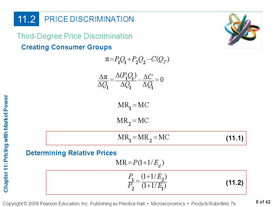 11.2 PRICE DISCRIMINATION Third-Degree Price Discrimination