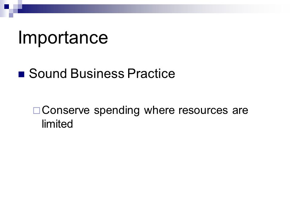 Importance Sound Business Practice