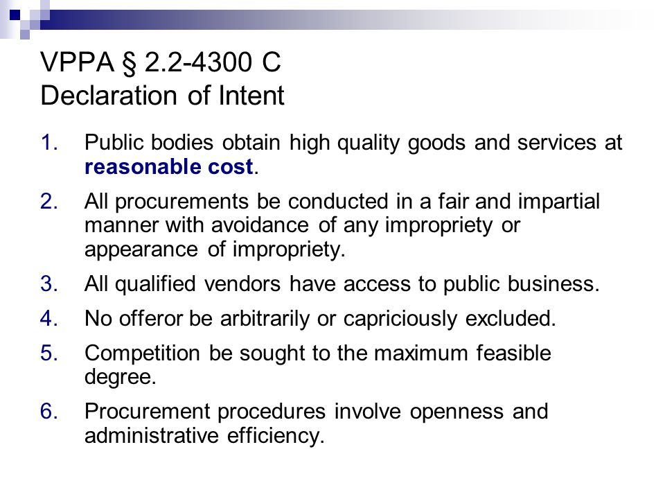 VPPA § 2.2-4300 C Declaration of Intent