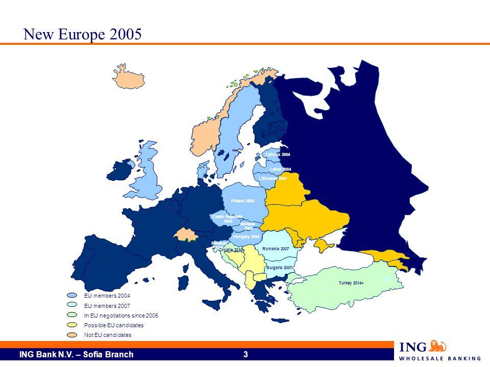 New Europe 2005 EU members 2004 EU members 2007