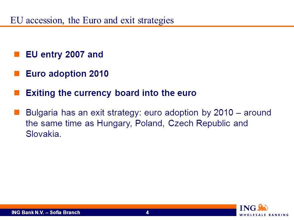EU accession, the Euro and exit strategies