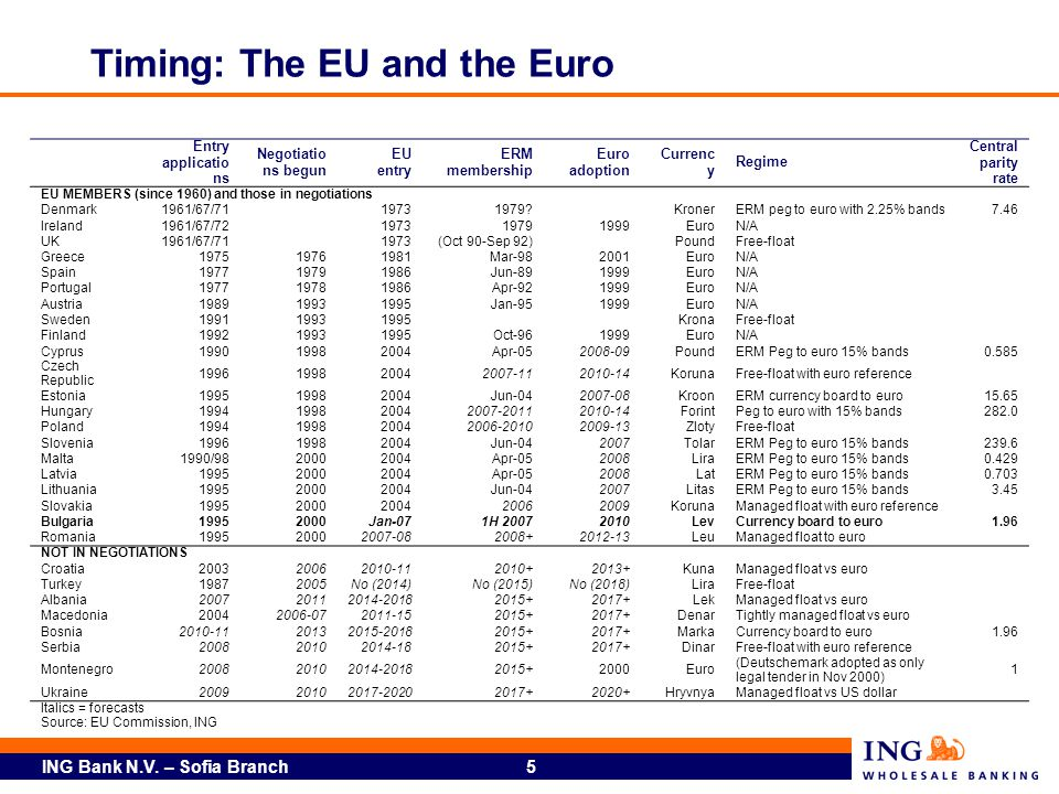 Timing: The EU and the Euro