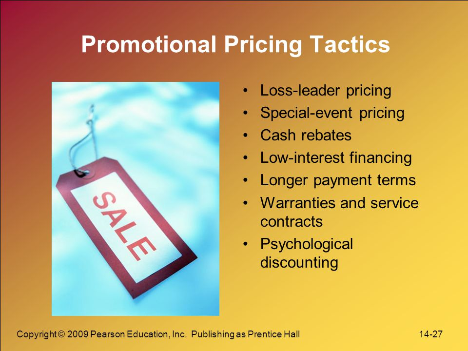 Promotional Pricing Tactics