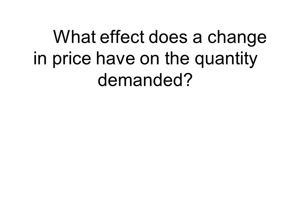 What effect does a change in price have on the quantity demanded