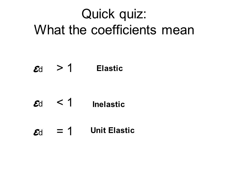 Quick quiz: What the coefficients mean