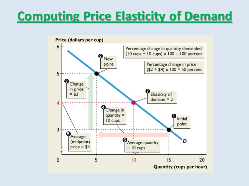 Computing Price Elasticity of Demand