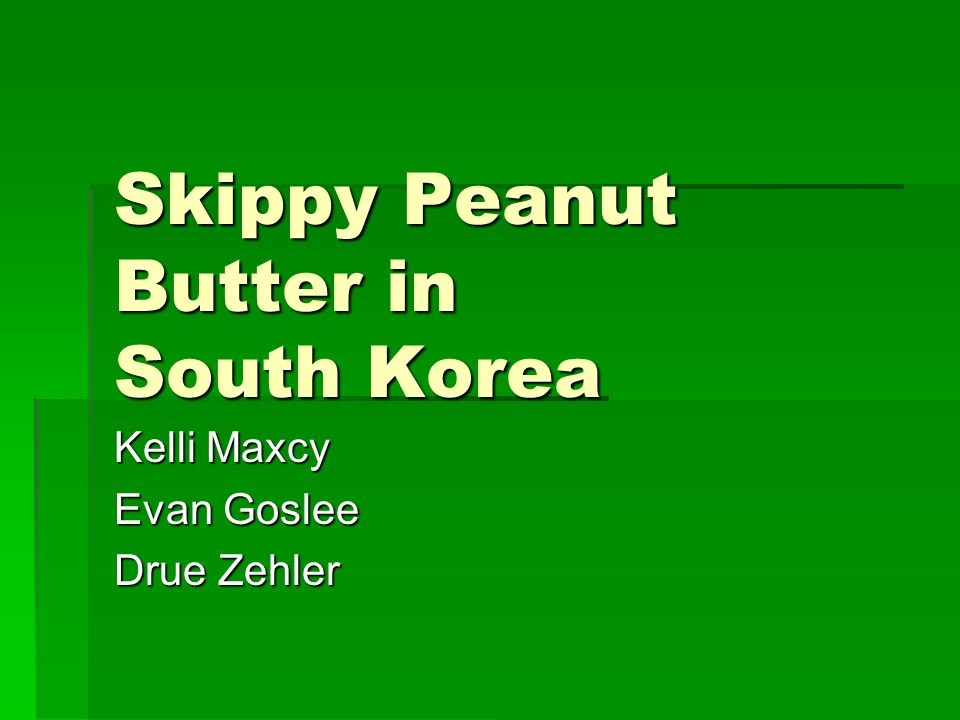 Skippy Peanut Butter in South Korea