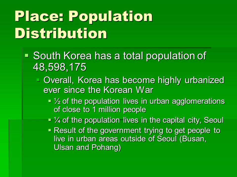 Place: Population Distribution