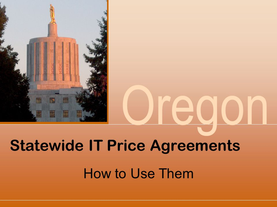 Statewide IT Price Agreements